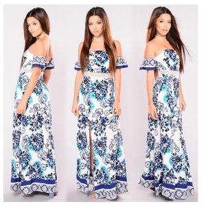 Naxos Dress - Jade Multi Maxi Dress